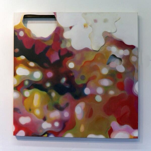 """'Presence and Absence' 36""""x36"""" oil on canvas, with cutouts... http://t.co/iXr3ikAixc"""