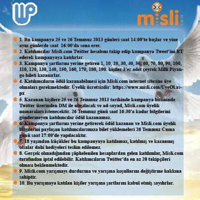 misli.com (@mislicom): Twitter'da Misli'yi takip et, bu Tweet'i RT et, MP bileti kazanma şansı yakala! @mislicom #MilliPiyangoMislidenAlinir http://t.co/lMc6PaLdmt