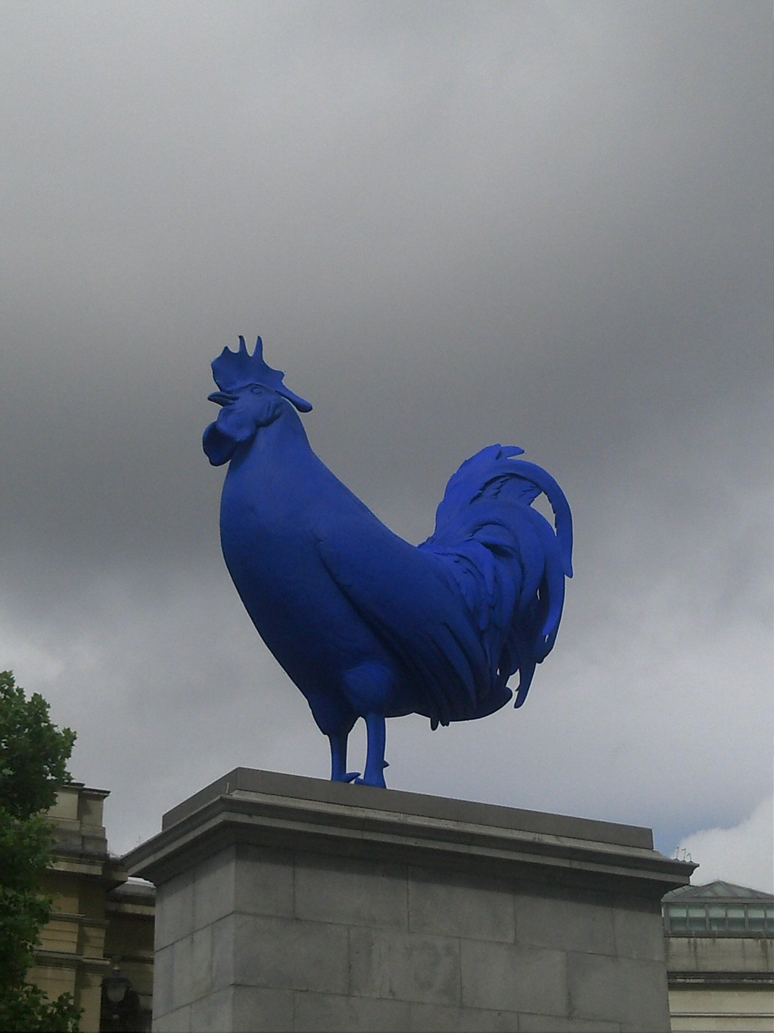 Trafalgar Square's big blue cock in all its glory> RT @chefskiss: The big bird #Fourthplinth http://t.co/MLsgAGaxL4