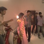 RT @sillijo: #EthirNeechal on Location Pic with @PriyaWajAnand & @Siva_Kartikeyan http://t.co/5x07vgM9Pm
