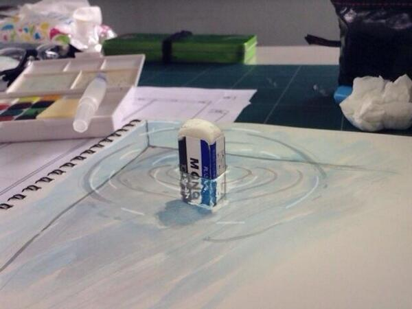 An Eraser Immersed in a Sketchbook by @positive_hero_X http://t.co/2aUcGnOGor