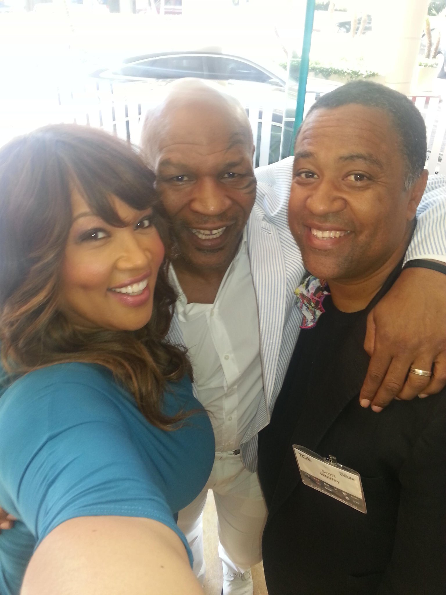 Kickn it with brother and Mike Tyson at the TCA's http://t.co/S1ZVVTkDBl