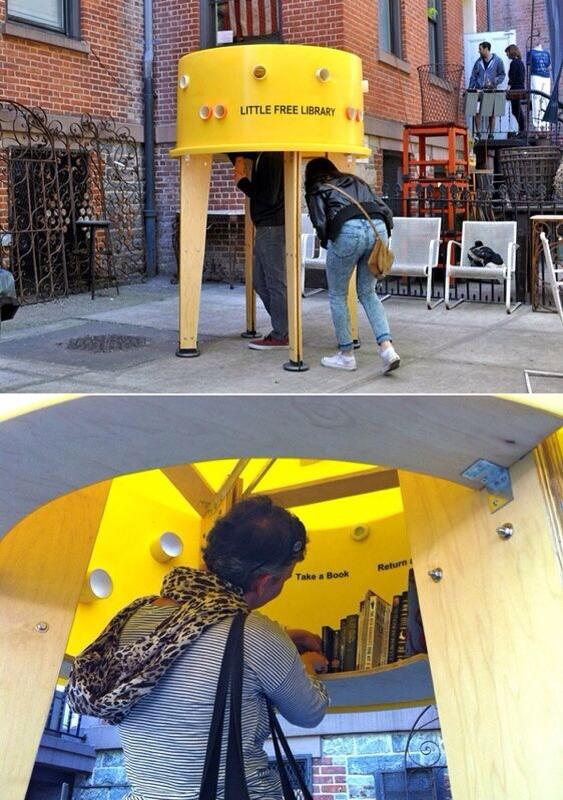 Así promueven la lectura en New York... http://t.co/ut3IMRlar9
