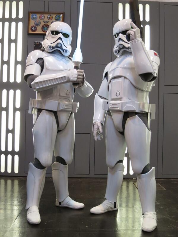 The @501stLegion debuting their new Ralph McQuarrie concept Stormtroopers at #StarWarsCelebration. http://t.co/jAAkxS3ESt