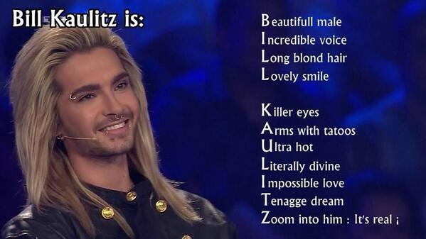 RT @Fashionikone: Bill Kaulitz is:... http://t.co/pb2Pgxafv0