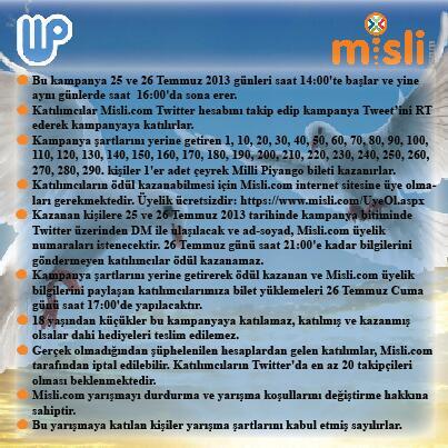 misli.com (@mislicom): Bu Tweet'i RT et, Twitter'da Misli'yi takip et, MP bileti kazanma şansı yakala! @mislicom #MilliPiyangoMislidenAlinir http://t.co/GxjVZnJX3J