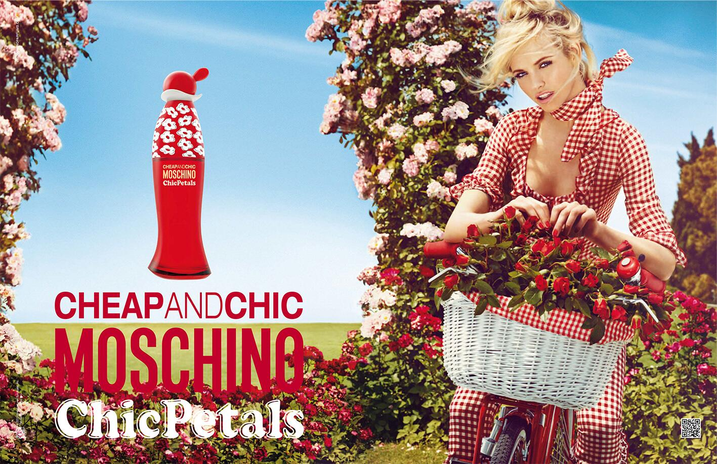 """Summer is here for @Moschinofficial's """"Chic Petals"""" fragrance ads starring @GintaLapina89 shot by @giampaolosgura. http://t.co/VEGbxEzUh1"""