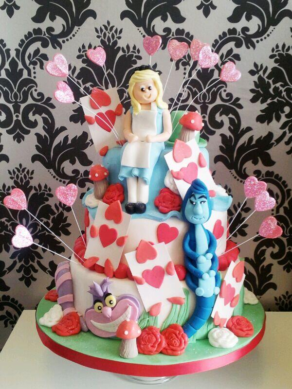 Alice in wonderland birthday cake at The Cake Box in Hazel Grove Cheshire, we can design anything :-) http://t.co/BmbvU54Snv