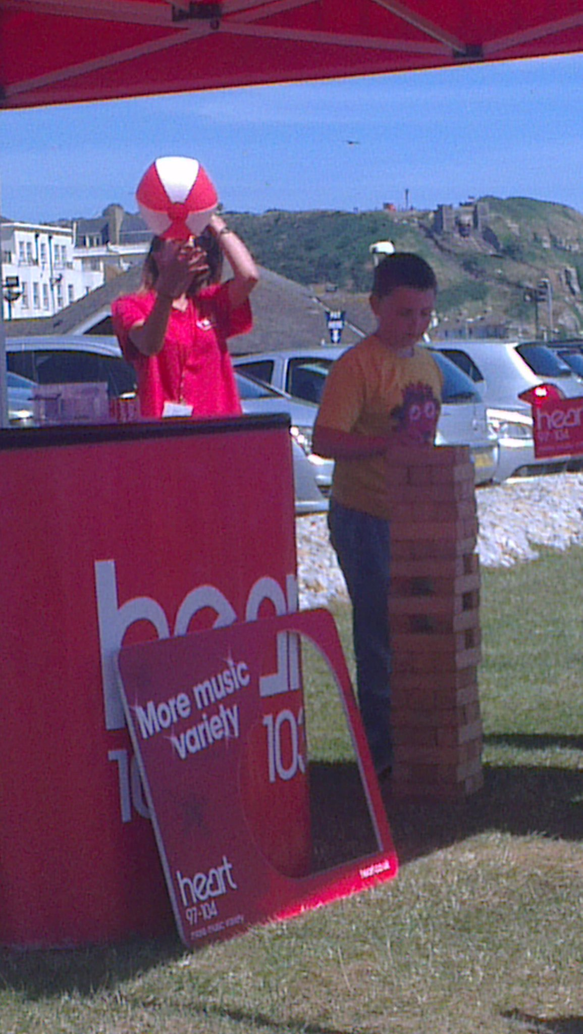 @officialheart my little boy playing jenga at Hastings seafront, lovely weather :) http://t.co/hpeOBKbXRg