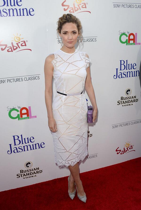"Actress Rose Byrne went for a resort 2014 look by @ChristopherKane at the recent ""Blue Jasmine"" premiere. http://t.co/515VwjGDOM"
