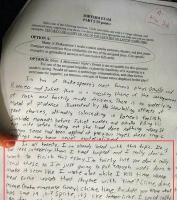 If *this* essay got *that* grade then the case for external assessments just got a bit clearer. http://t.co/NkXijPnOFW