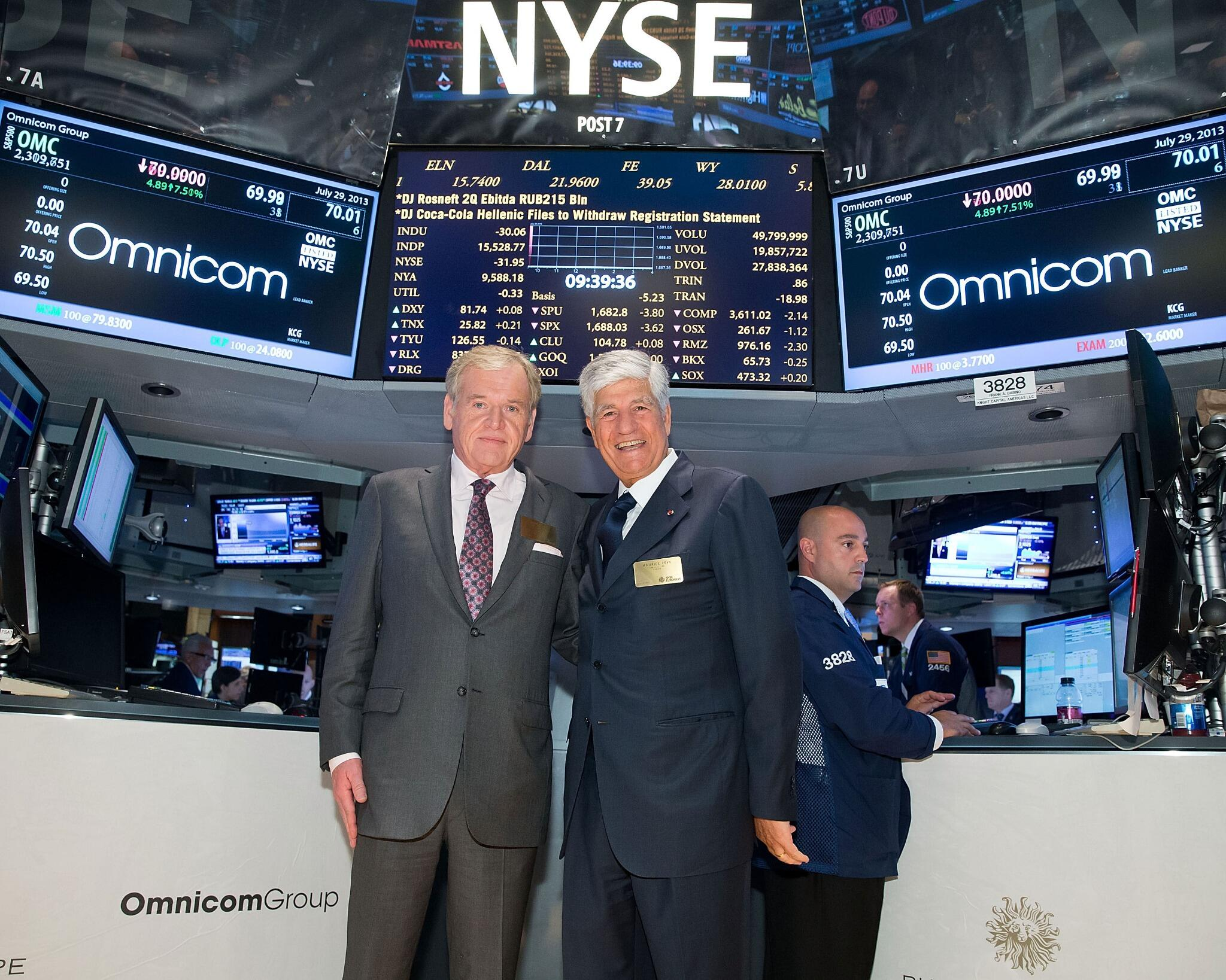 #PublicisOmnicom #MauriceLévy and John Wren at #NYSE http://t.co/b1jo1a1wgf
