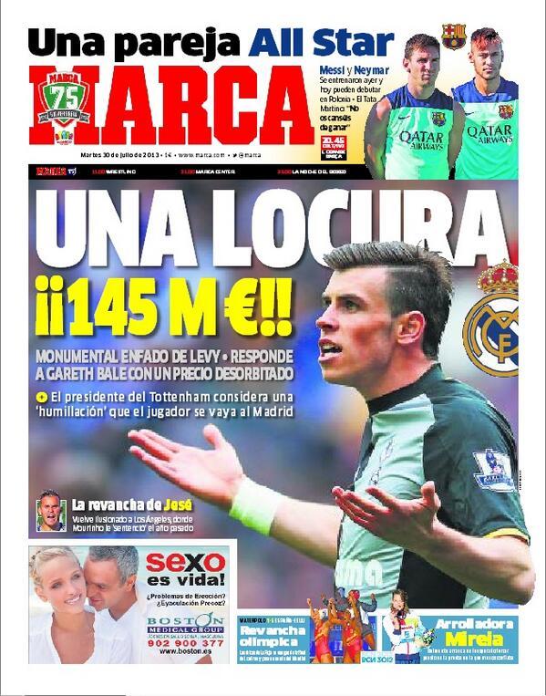 #LaPortada 'Una locura: ¡¡145 millones!!' http://t.co/HIfzJ5cRqe