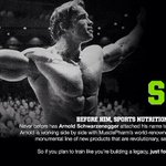 RT @BradPyatt: It's official! Arnold Schwarzenegger teams up with MusclePharm to develop his own line of supplements. http://t.co/VkMa7X30q9