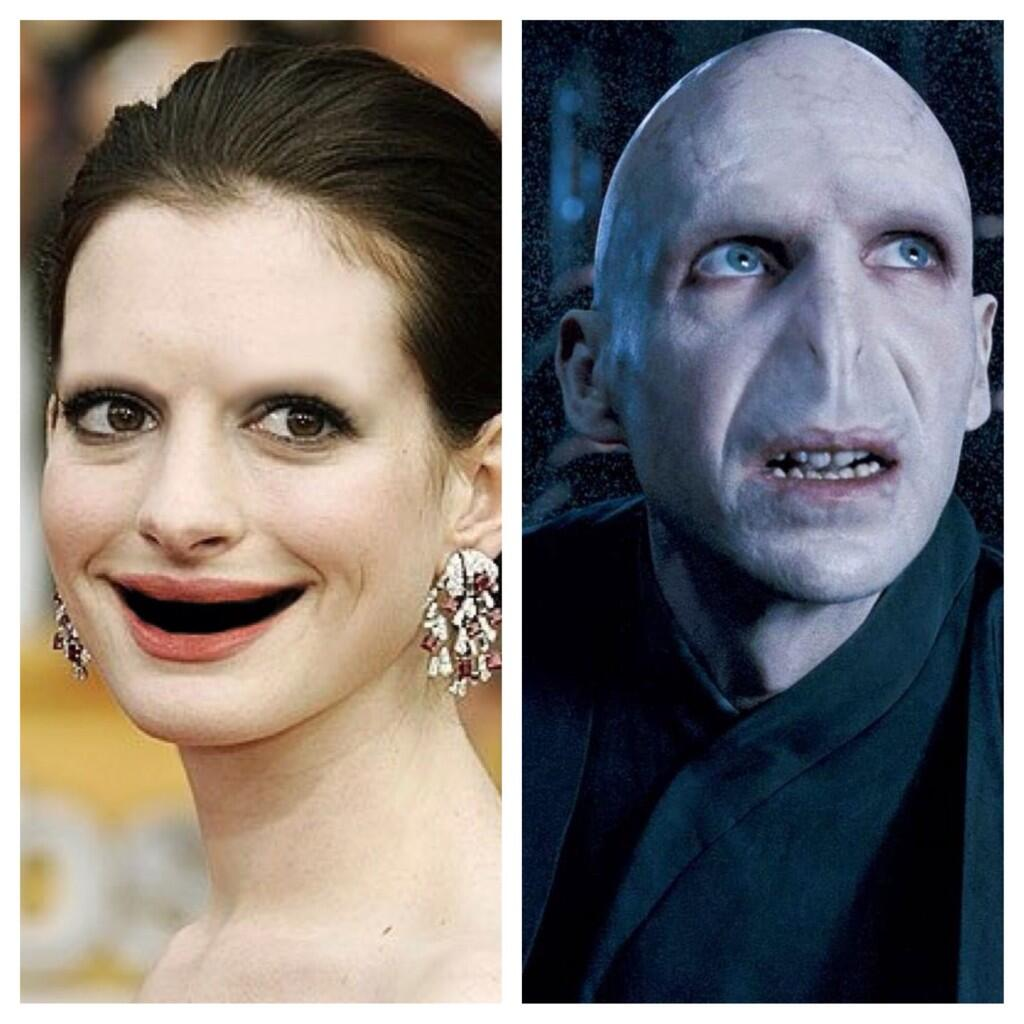 Is it just me or does Anne Hathaway without teeth look a bit like Lord Voldemort? http://t.co/ruTUYpk9iF