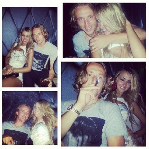 Luka Modric pictured playing away from home with pretty blonde (not his wife) in LA