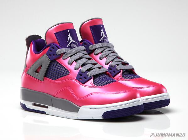 For women repping #TeamJordan, our 'Pink Fluorescent' Girls Air Jordan 4 Retro drops tomorrow: http://t.co/MbXd1aHwoV