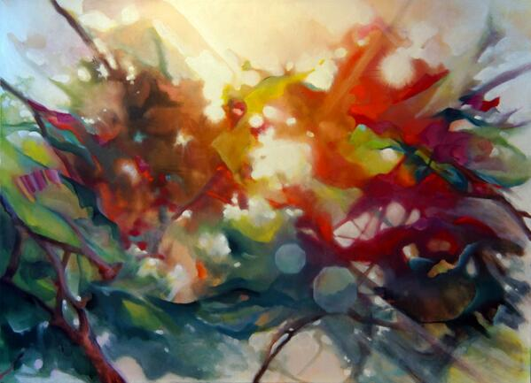 "Flare' 60""x44"" oil on canvas - http://t.co/6opN2Het2P #art #painting .."