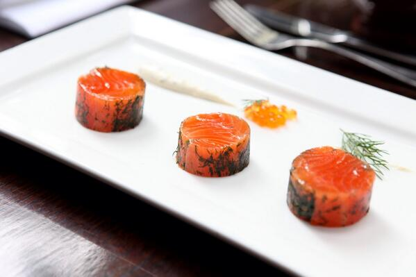 Cured salmon star anise and chili http://t.co/BBUXzmgCDZ