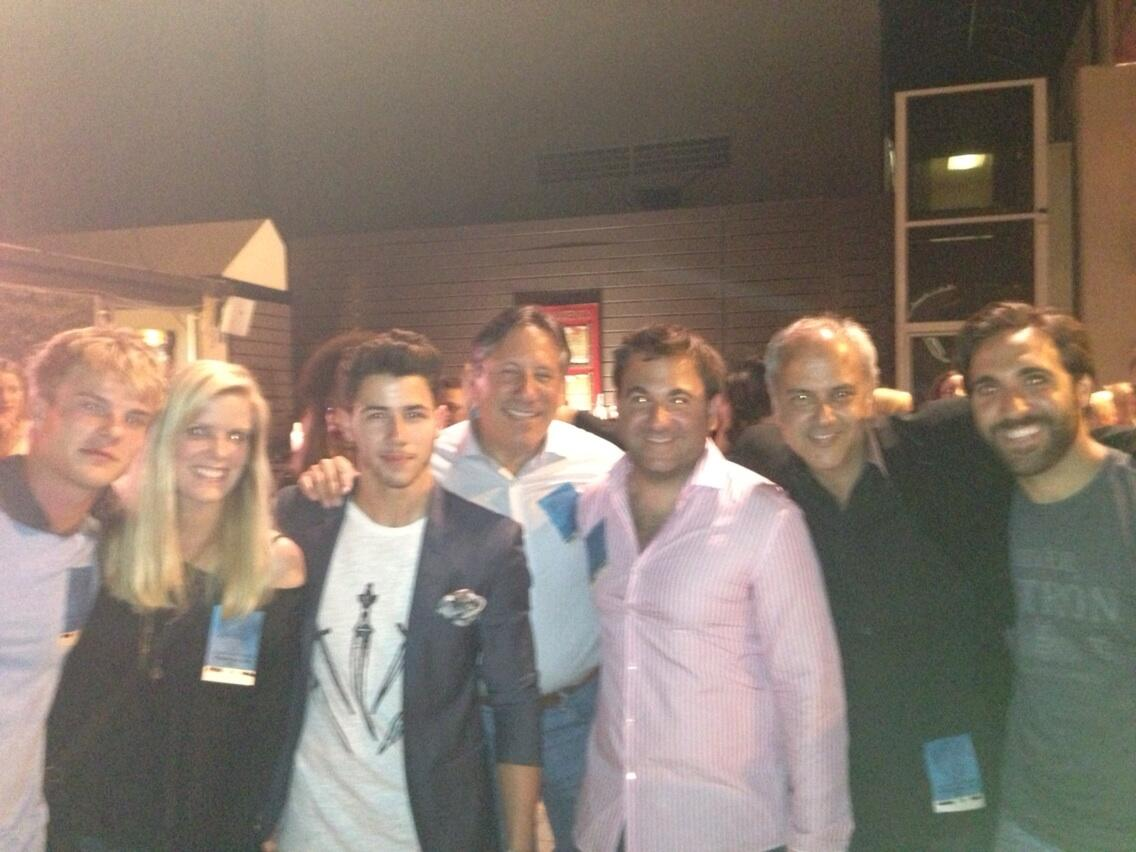 With @nickjonas backstage :) he's such a terrific talent! http://t.co/PGIKpMgCaB