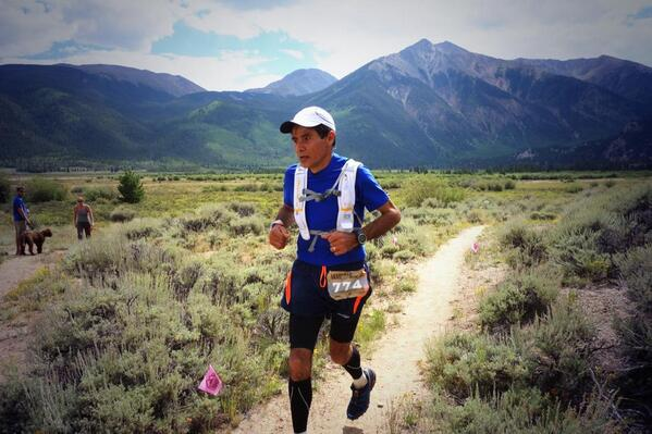 Seventh into Twin Lakes (mile 60) is Javier Moreno (+74'). He's solidly moving up. #LT100 http://t.co/R4kw4diwn5