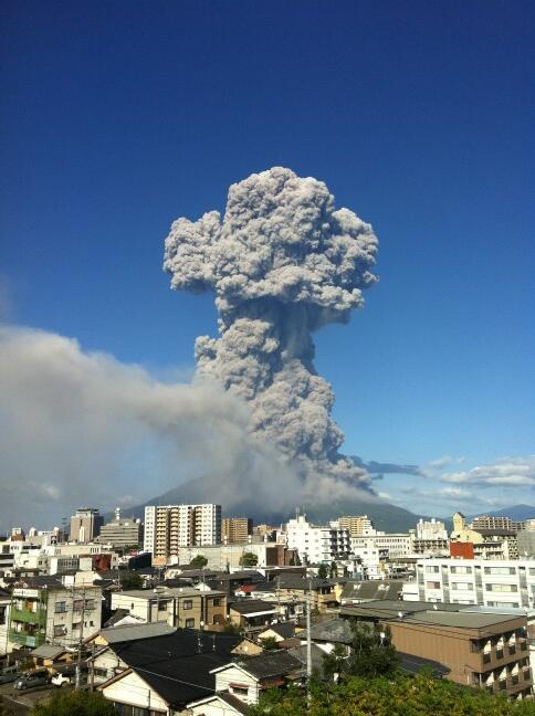 桜島、噴火なぅ。
