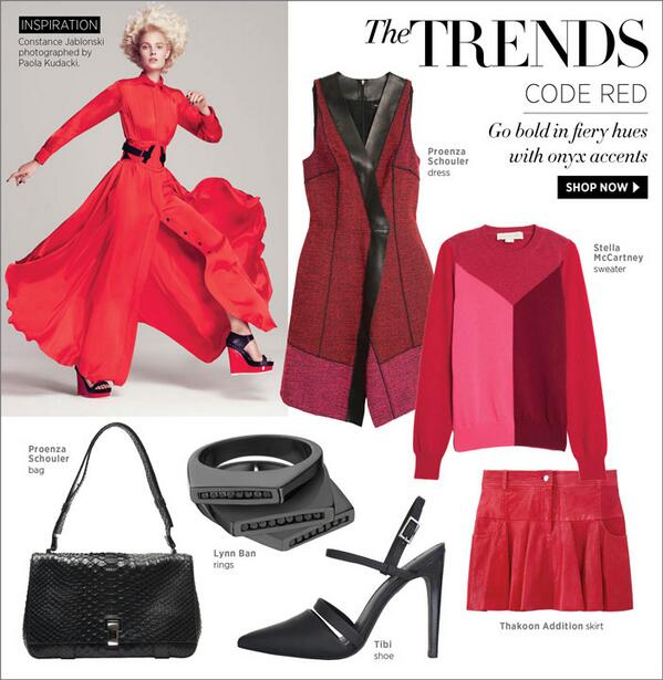Shop the Trend: The Latest Pieces in Fiery Reds at #ShopBAZAAR. http://t.co/0ycur9vTvL