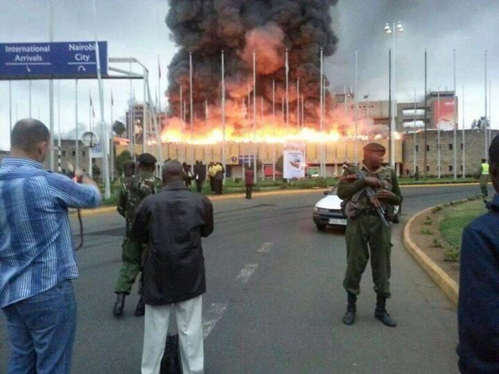 RT @justteaplease: Kenya Airport burns down. Arrivals and immigration hall already gone. Fire crews running out water. Tragic http://t.co/F?