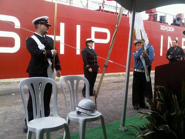 RT @gdelleroseash: In Port Colborne celebrating the CSL Trillium vessel The Thunder Bay. http://t.co/wVWKSpLdCl