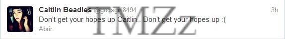 #TMZz: Caitlin Beadles no quiere hacerse ilusiones con la idea de volver con su ex novio Justin Bieber. http://t.co/8wmAzmCoFS