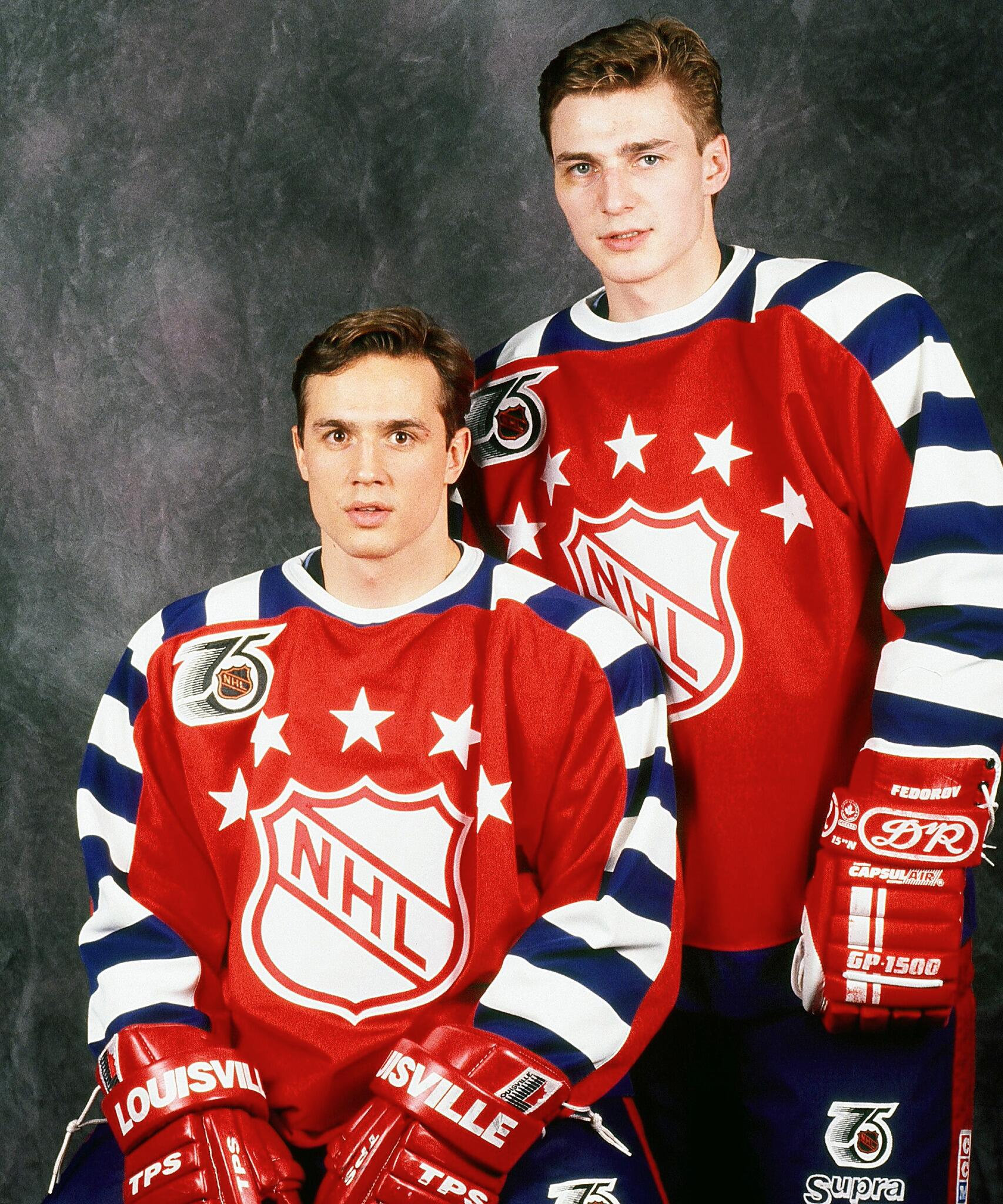 RT @DetroitRedWings: #TBT: Check out these two studs at 1992 All-Star weekend; Fedorov won 'Fastest Skater' & had two assists in the game. http://t.co/gDrQypY5bh