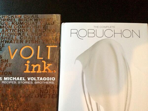 RT @PatrickDaly14: Got some cool new cookbooks today! @MVoltaggio @RobuchonLV http://t.co/QGzFlk4bMw
