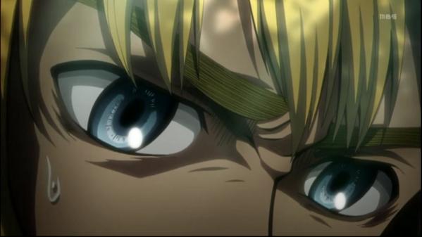 アルミンの眉毛が日増しに濃くなっているとは聞いていたが 今日のはものすっごい