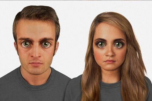 Researchers at Washington University say this is what our faces might look like in 100,000 years. http://t.co/TFL3qAcJ26
