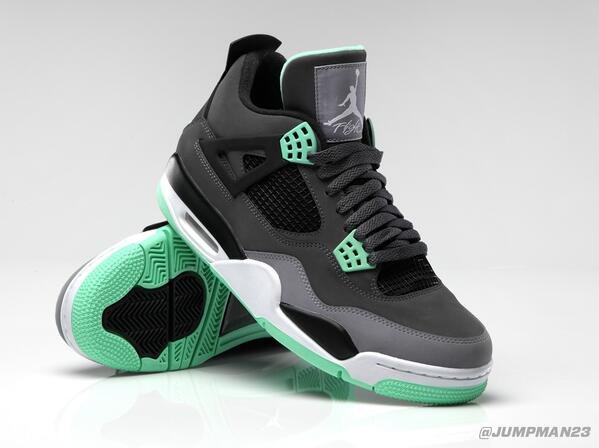 "Brighten up the kick game this Saturday with our ""Green Glow"" Air Jordan 4 Retro: http://t.co/choHSQLmBC"