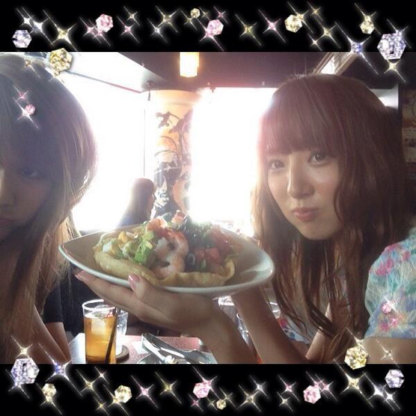 ゆかりんと茶道して サラダ食べたょ   ऀืົཽ෴̑  ऀืົཽ♡幸せな時間,  @yukoriyukori 勉強頑張る‼ http://t.co/oLfDhI8j43