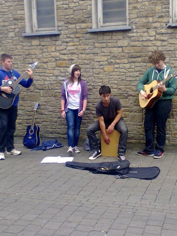 So we went busking in Kilkenny today! Very fun but tiring! :D http://t.co/MfhPxgIvF0