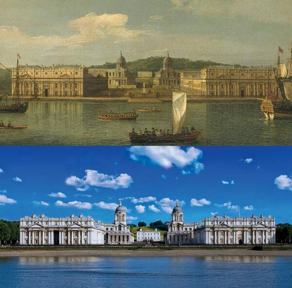 Iconic view of #Greenwich that hasn't changed much since Canaletto painted it in c.1750-2 http://t.co/1YgJe43b6Z via @ornc Visit @ornc