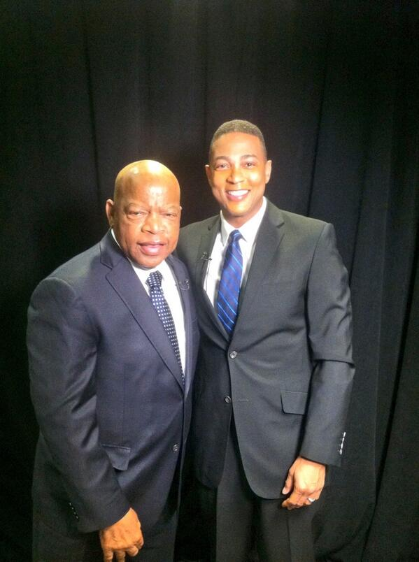 """Civil rights hero @repjohnlewis told me he wore 3piece suit to sit-ins/marches. """"Wanted 2 go 2 jail w/dignity"""". http://t.co/Ske7oYjIJs"""