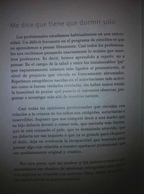 RT @conocemimundo: Sobre las opiniones profesionales. Por Laura Gutman en La Familia Ilustrada http://t.co/FpmyK8ElB7