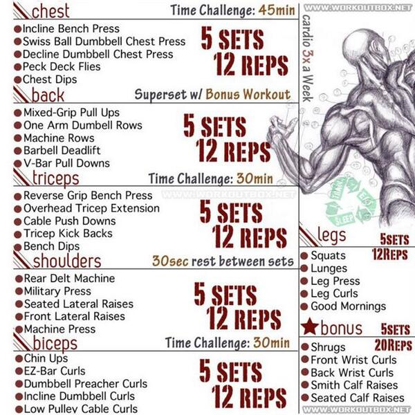 Pay attention to the top right. Cardio 3x a week. http://t.co/fGpiaGadQ8