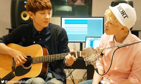 An acoustic version of 1-4-3(I Love You) by @henrylau89 featuring #ChanYeol will be released today! Stay tuned~ http://t.co/QIcR2o4kpr