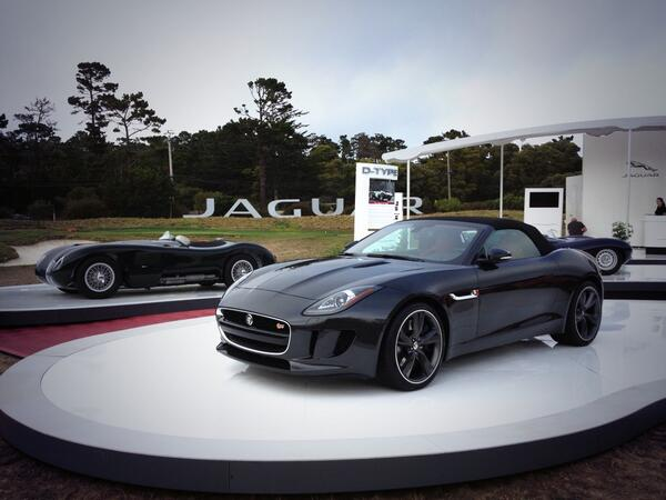 New cars are just as much a part of #PebbleBeachConcours as oldies. @JaguarUSA knows this well. #ftype http://t.co/YbYS8y7IYW