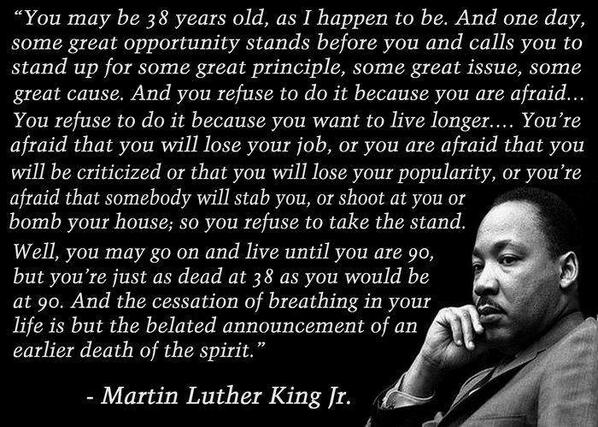 Wonderful quote from Martin Luther King  RT @BuddhaBrian http://t.co/sG6kQGinJO