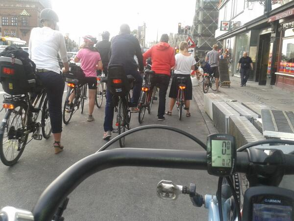 Leaving Copenhagen this morning. Almost a bike jam. They need more #Space4Cycling too