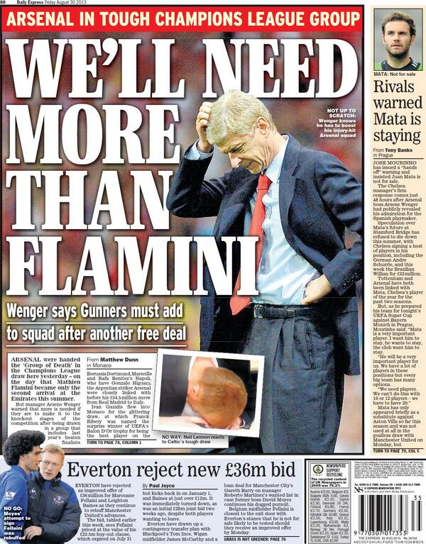 BS3jWJCCcAAiTeT Fridays back pages batter Arsenal: Wengers nightmare & its all Gunn wrong