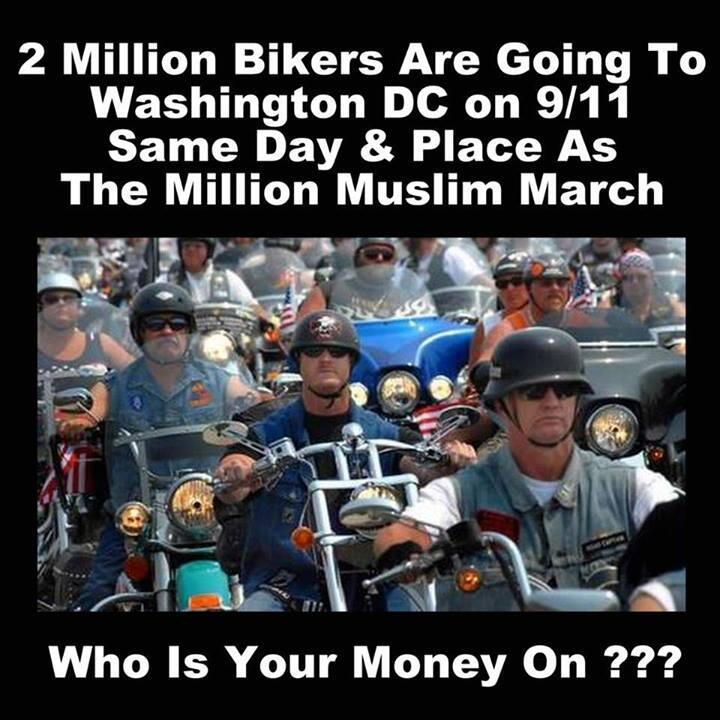 Two million bikers headed to Washington DC! http://t.co/KXqJDQaity