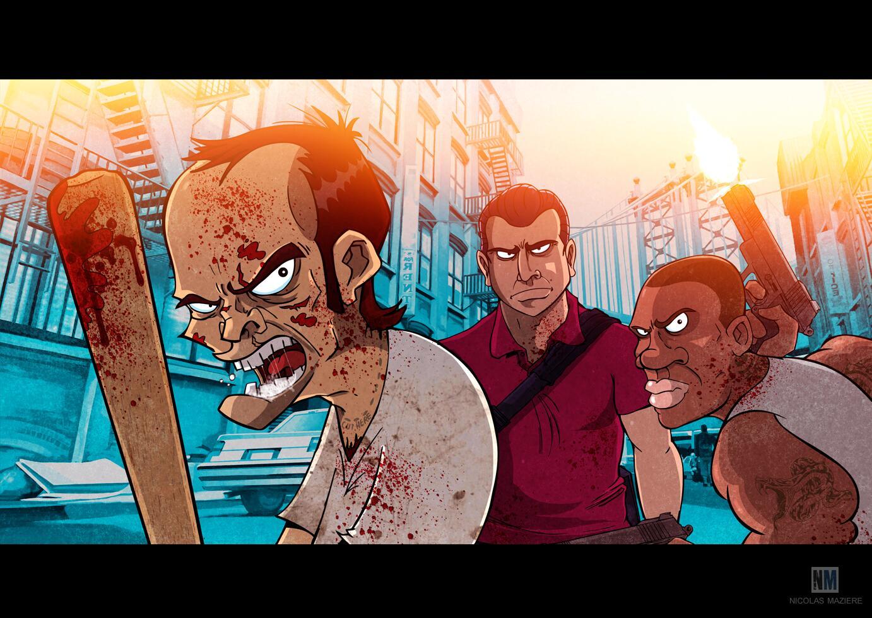 RT @Nicolasmaziere: Mon illustration sur GTA V ! @JulienChieze ,@JulienTellouck @PoufyGB http://t.co/QbkZAoH2AS