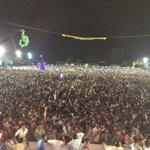 Cannot BELIEVE the Dahi Handi welcome in Baramati. Over 1 lakh people! #Insane http://t.co/7jws17MQY4