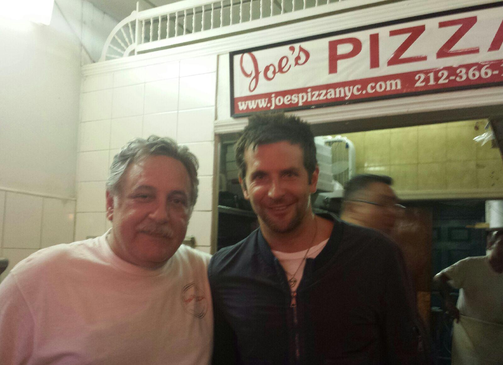 #BradleyCooper knows grabbing a slice at Joe's after a night on the town may help avert a hangover. http://t.co/RS0QI1Ken7